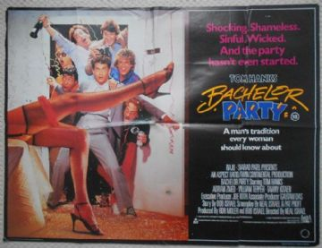 Bachelor Party, Original UK Quad Poster, Tom Hanks, '84